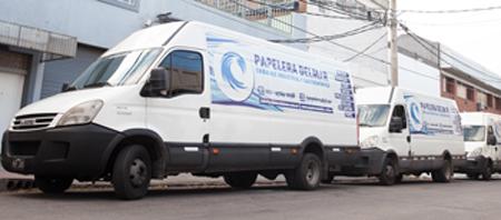 Flota de camiones de Papelera Delmar